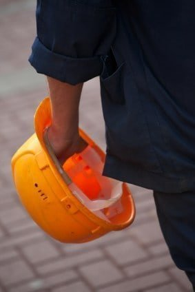 The Lien Zone Construction worker with a hard hat photo