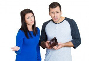 couple upset that they are financially broke