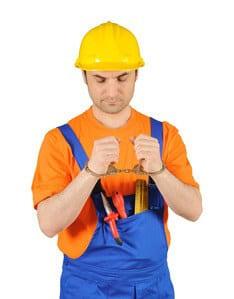 contractor stops working