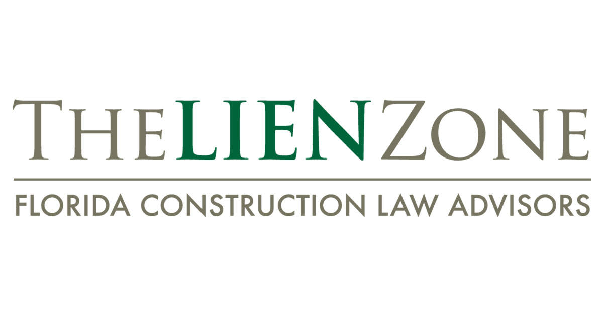 Florida Construction Forms  Florida Lien Law  Thelienzone