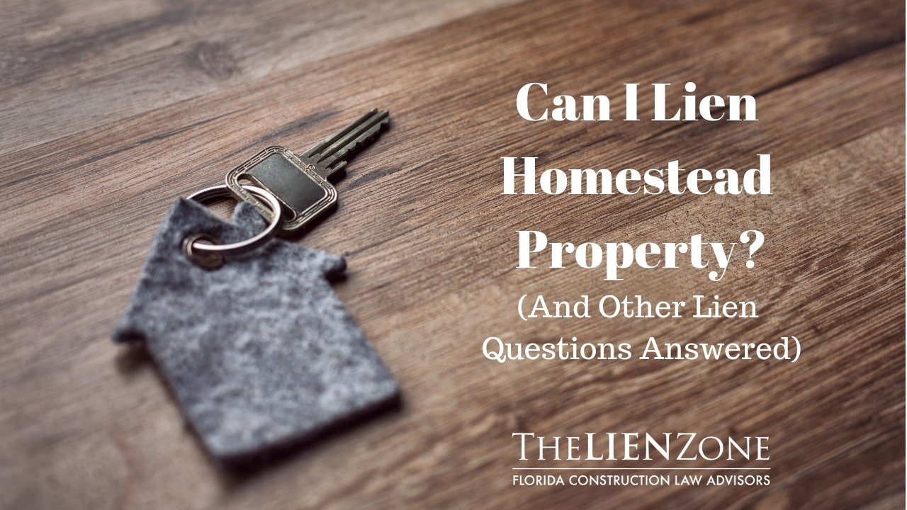 (post) Can I lien homestead property? (and other lien questions answered)
