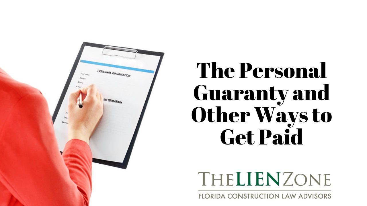 (post) The Personal Guaranty and Other Ways to Get Paid