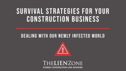 (post) Survival Strategies for your Construction Business