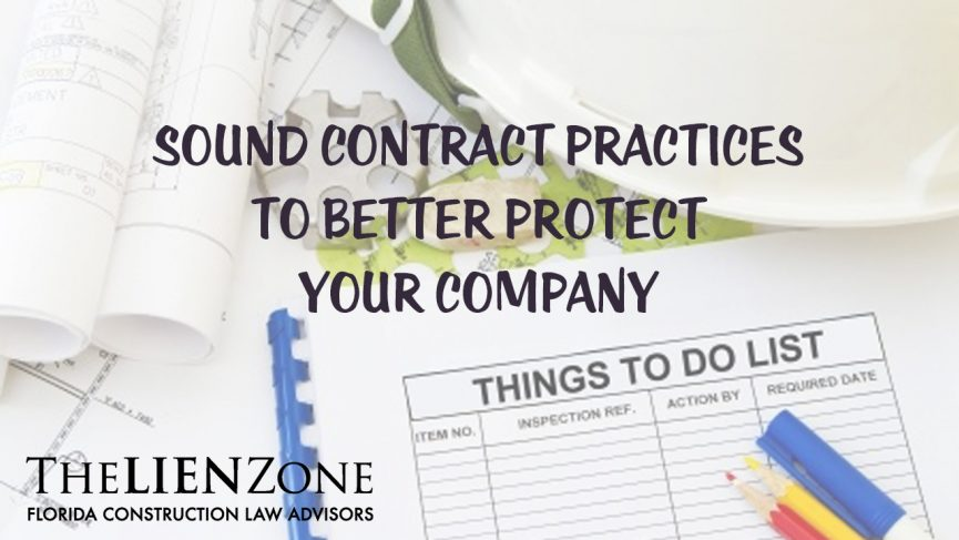Sound Contract Practices